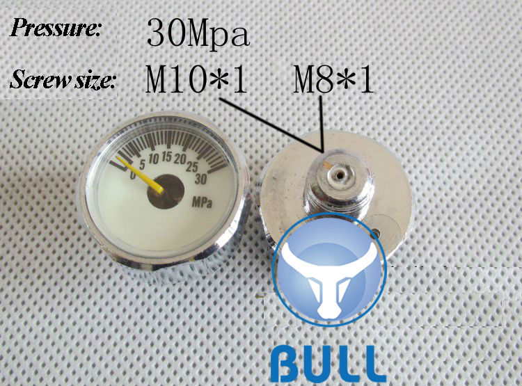 BULL pcp valve 30mpa high pressure gauge / manometer for constant pressure valve - factory outlet on sale the 2nd generation bull 30mpa high pressure pcp stainless steel hand pump factory outlet on sale