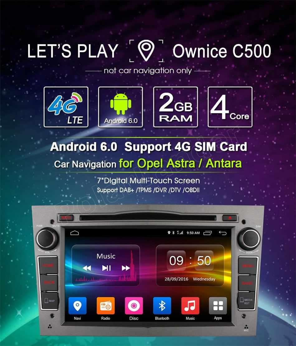 サポート 4 4G LTE 2 Din 7 インチのアンドロイド 6.0 カー Dvd ラジオプレーヤー Gps 用 Vauxhall オペルアストラ H グラム J ベクトラアンタラ Zafira Corsa