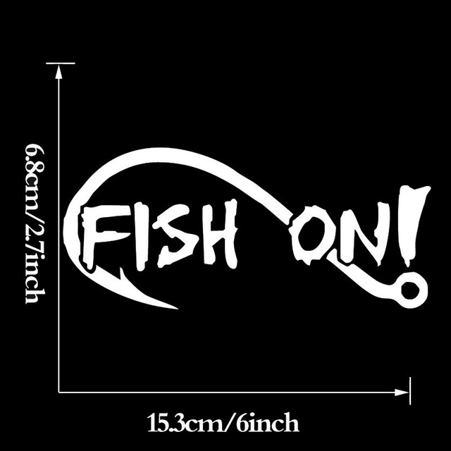 Wholesale 5pcs10pcs 20pcs lot fish on with fishing hook vinyl decal