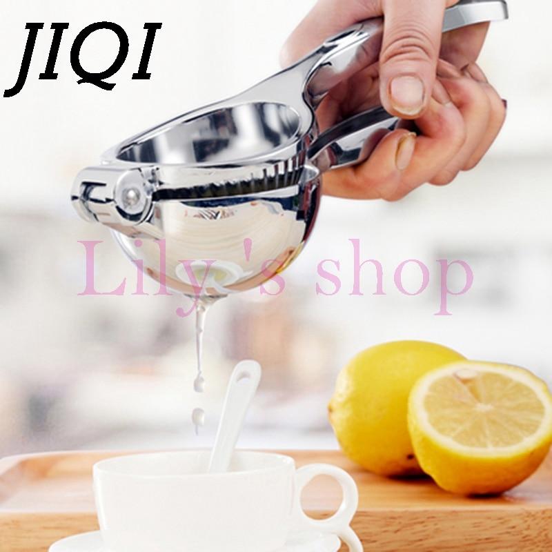 JIQI Stainless Steel orange Lemon Squeezer Anti corrosive portable Hand Press Manual Juicer Kitchen fresh Lime Fruit juice tools