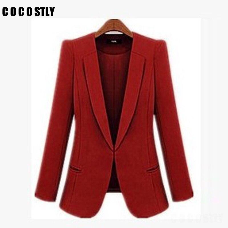 High Quality Office Blazer Women Casacos Femininos Basic Jackets Women Blazer Slim Blazers Suits For Women Cardigan Plus Size