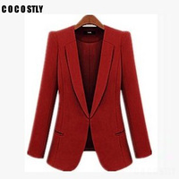 High Quality Office Blazer Women casacos femininos Basic Jackets women blazer slim Blazers suits for women cardigan plus size