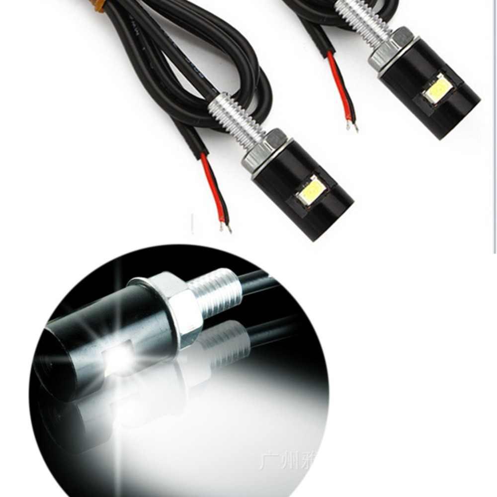 2 PCS Nuovo Universale Wired Moto LED Luce Della Targa Lampadina Motocross Auto LED 12 V Lampada Frontale Corsa e Jogging Luce indicatori di Direzione