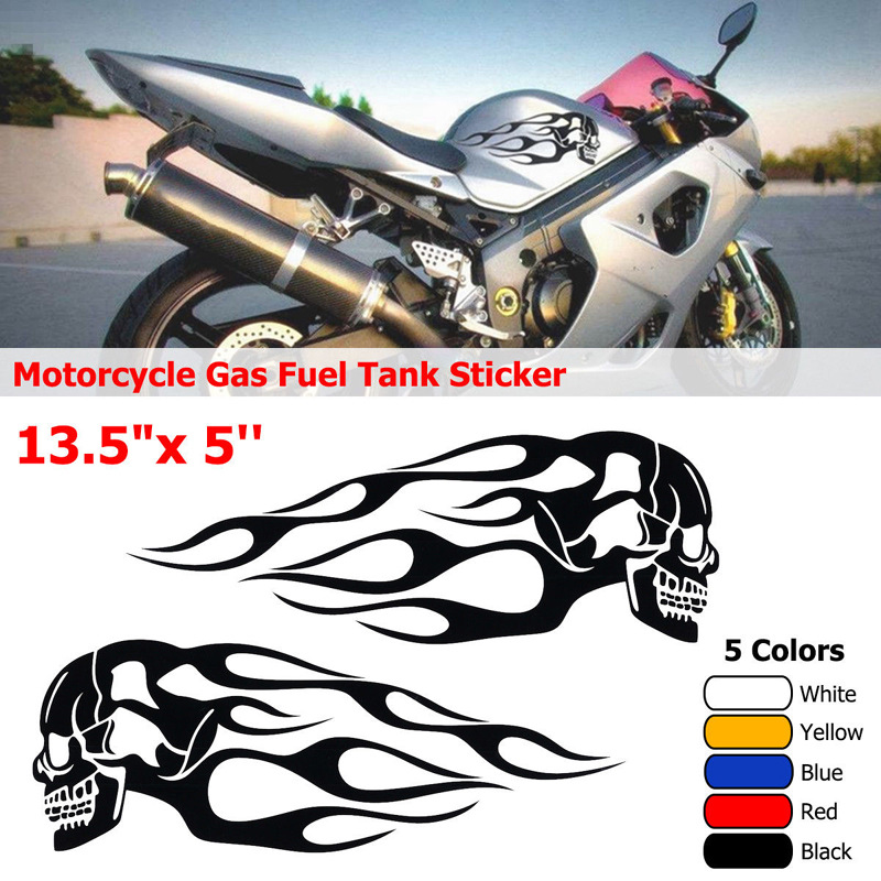 CAR MOTORCYCLE DECORATION DECALS STICKERS BLACK FLAME EAGLE X 2 PIECES