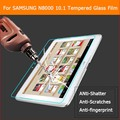 Prima de cristal templado de cine Para Samsung Galaxy Note 10.1 N8000 P5100 tablet pc Anti-añicos Protector de Pantalla de Cine + paquete