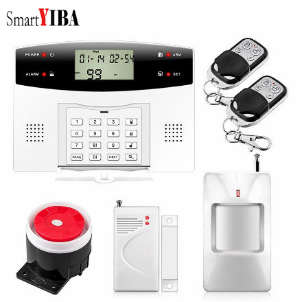 SmartYIBA LCD Display Wireless Wired Bruglar GSM Alarm System Home Security Intercom PIR Motion Sensor Russian French Spanish yobangsecurity wifi gsm gprs home security alarm system android ios app control door window pir sensor wireless smoke detector