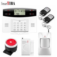 SmartYIBA LCD Display Wireless Wired Bruglar GSM Alarm System Home Security Intercom PIR Motion Sensor Russian