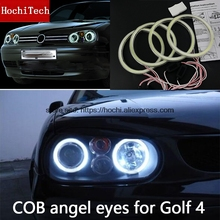 คุณภาพสูง COB ไฟ LED สีขาว LED Halo Angel Eyes สำหรับ Volkswagen Golf 4 GOLF4 MK4 R32 VR6 1998  2004 พร้อมเลนส์