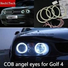 Chất Lượng Cao COB LED Ánh Sáng Trắng Hào Quang LED Đôi Mắt Thiên Thần Nhẫn Xe Volkswagen GOLF 4 Golf4 MK4 R32 VR6 1998  2004 Với Ống Kính