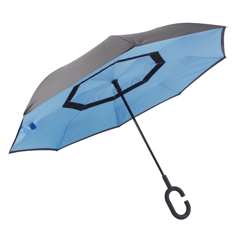 Windproof Long handle Umbrella Strong Waterproof C Shape Double Layer automatic Open Reverse Folding Umbrellas Home Rain Gear