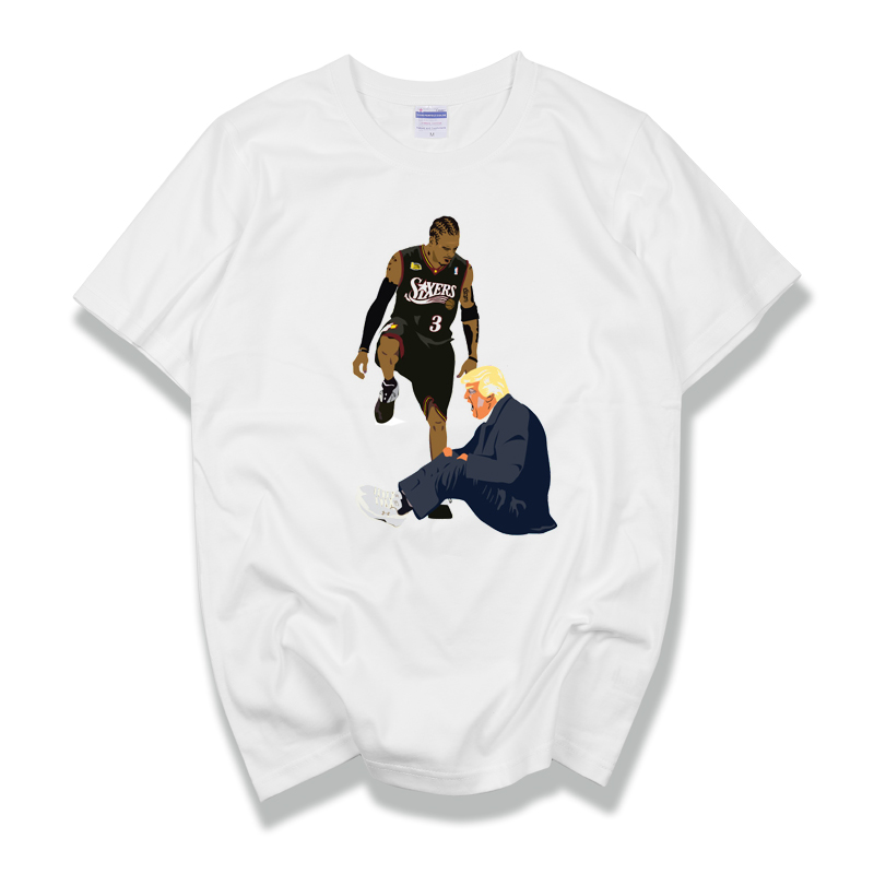 Donald Trump Allen Iverson men short sleeve t shirt 100 cotton tee tshirt funnytop women homme fashion Fashion Classic in T Shirts from Men 39 s Clothing