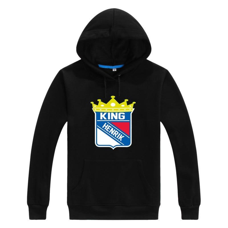 2016 2017 Henrik Lundqvist 30 king Henrik Logo Men Sweashirt font b Women b font hoodies