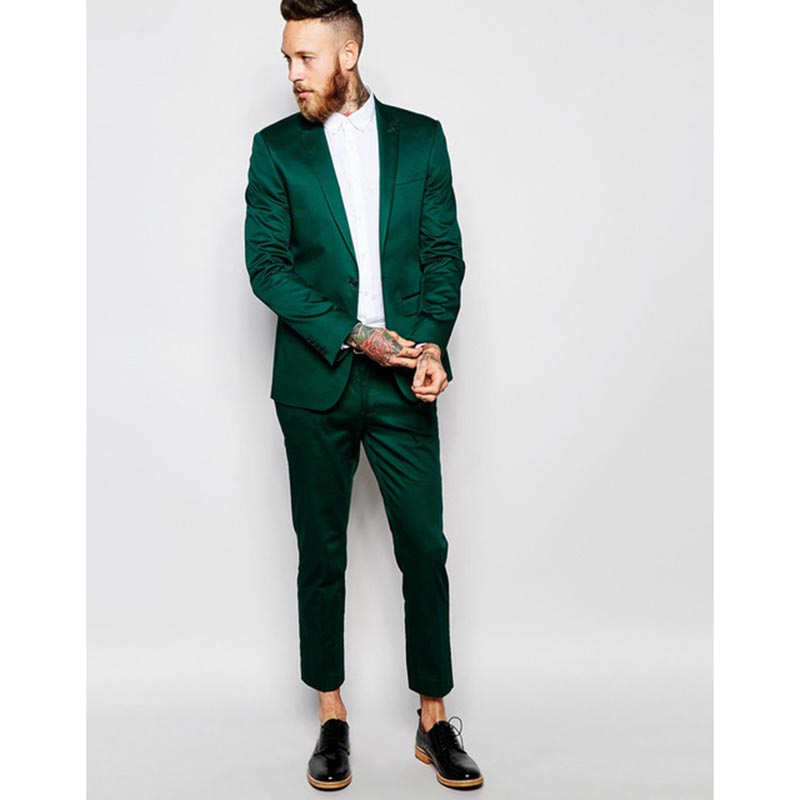 Latest Coat Pant Designs (Jacket+Pant) 2018 New Arrival Mens Suits Solid Color Shiny Casual Dress Blazer men Suit Costume Homme