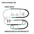 REGULADOR DE LA VENTANA DEL COCHE CLIP COMPLET SET KIT PARA VW PASSAT B5 ELEVALUNAS KIT DE REPARACIÓN ELÉCTRICA FRONT-RIGHT SIDE 1996-2005