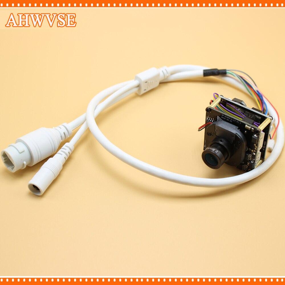 AHWVSE 2 pcs/lot 2.0 Mégapixels 1080 P Full HD 2.0MP 3.6mm Objectif Mini IP Caméra POE Module avec LAN câble