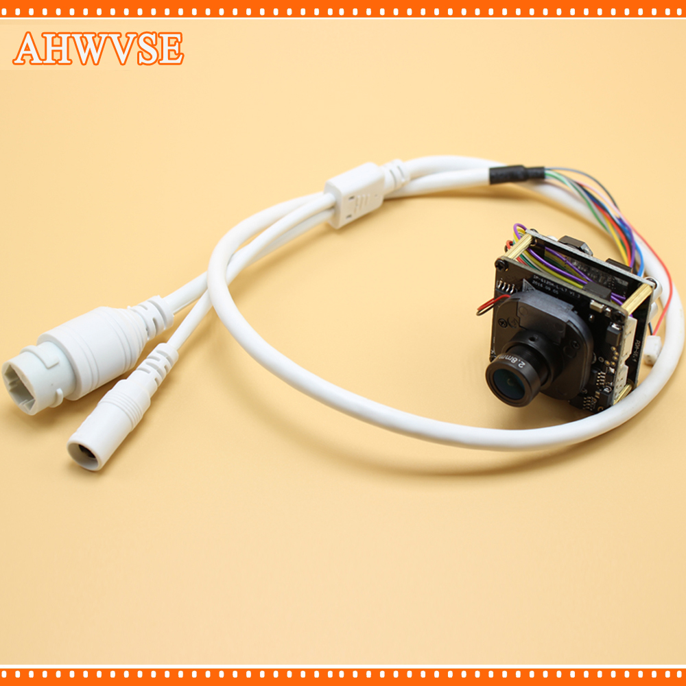 AHWVSE 2pcs/lot 2.0 Megapixels 1080P Full HD 2.0MP 3.6mm Lens Mini IP Camera POE Module with LAN Cable