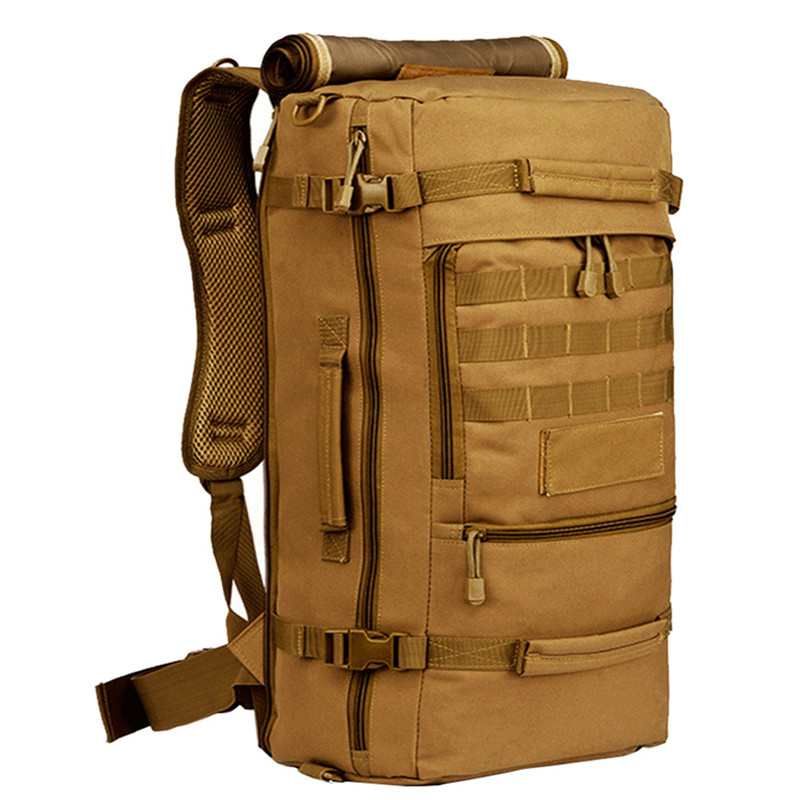 ФОТО Brand 50L Waterproof Nylon Backpack Military Unisex Men's Backpacks for Laptop Women Notebook Bag Backpack 14 to17 Inch