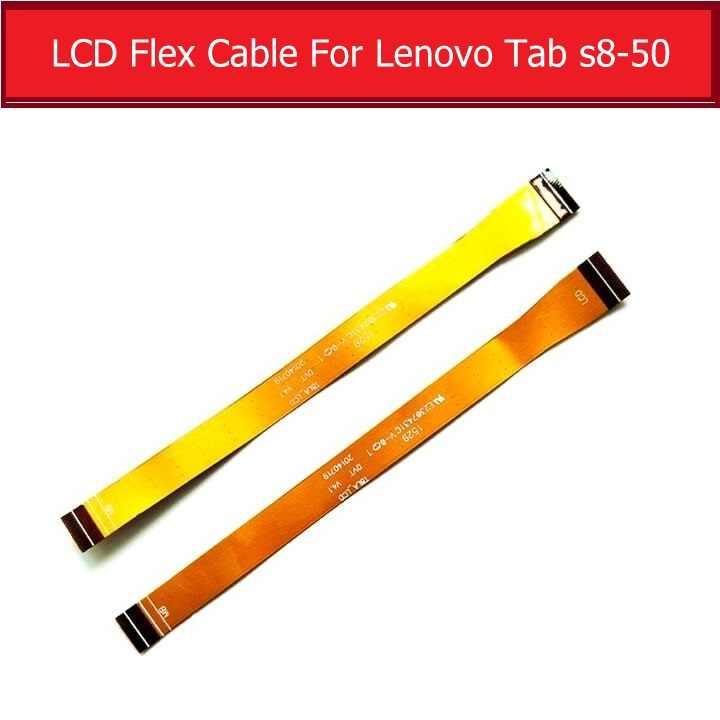 """حقيقية LCD الكابلات المرنة لينوفو تبويب S8 S8-50 8.0 """"LCD عرض الشاشة موصل مجلس فليكس الشريط اللوحي استبدال أجزاء"""