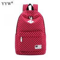 Dot Large Capacity Rose Backpack Female Canvas School Backpacks for Children a case for Phone & Purse High Quality Lady's Bags