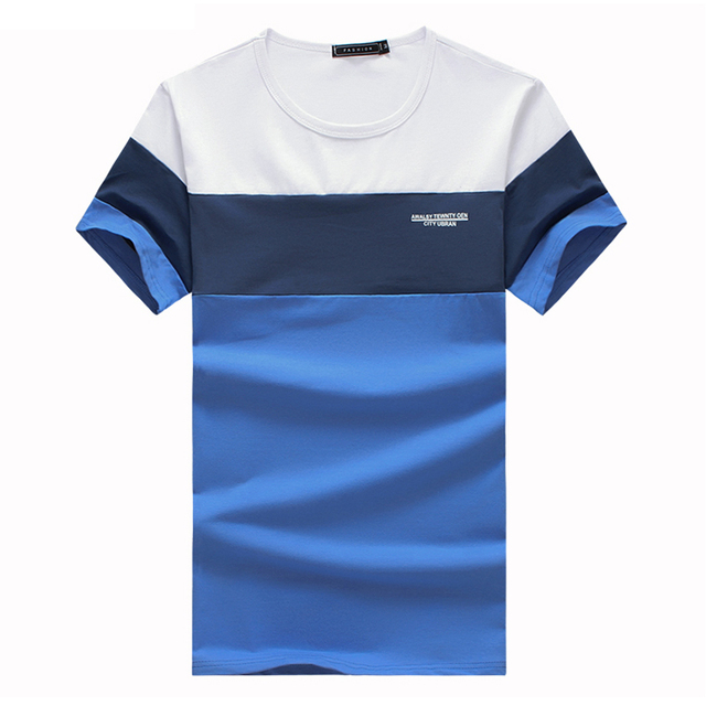 T Shirts Men Striped O-Neck Short Sleeves New Arrival Summer Slim Fit Cotton Men T-shirts Men Top Tees Shirts Plus Size 5XL