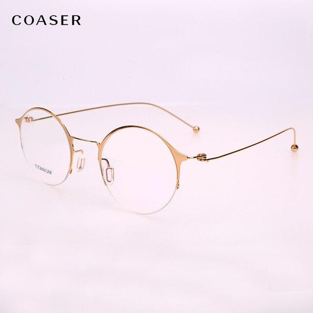 333d16f988 NEW Super Lighter Round Titanium Glasses frame Optical Metal Eyeglasses For  Men Women Computer Lens Myopia