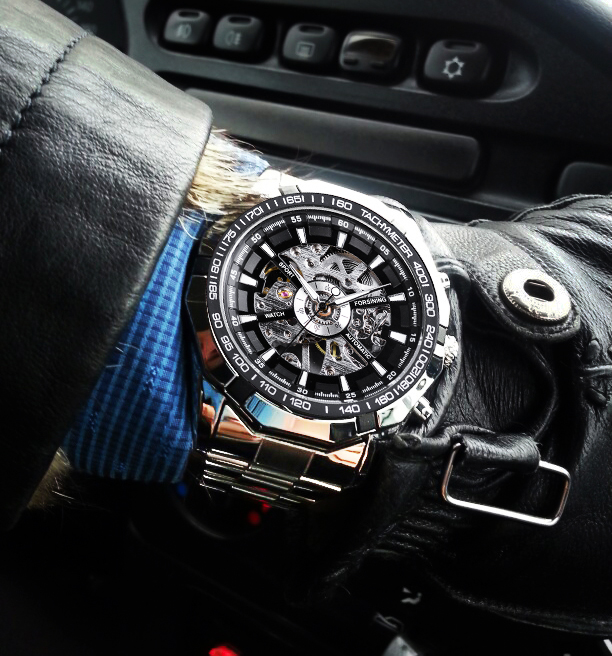 Watches ... Men's Watches ... 32822051169 ... 3 ... Forsining 2017 Silver Stainless Steel Waterproof Mens Skeleton Watches Top Brand Luxury Transparent Mechanical Male Wrist Watch ...