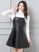 2019 New Leather Strap Sheepskin Dress P4