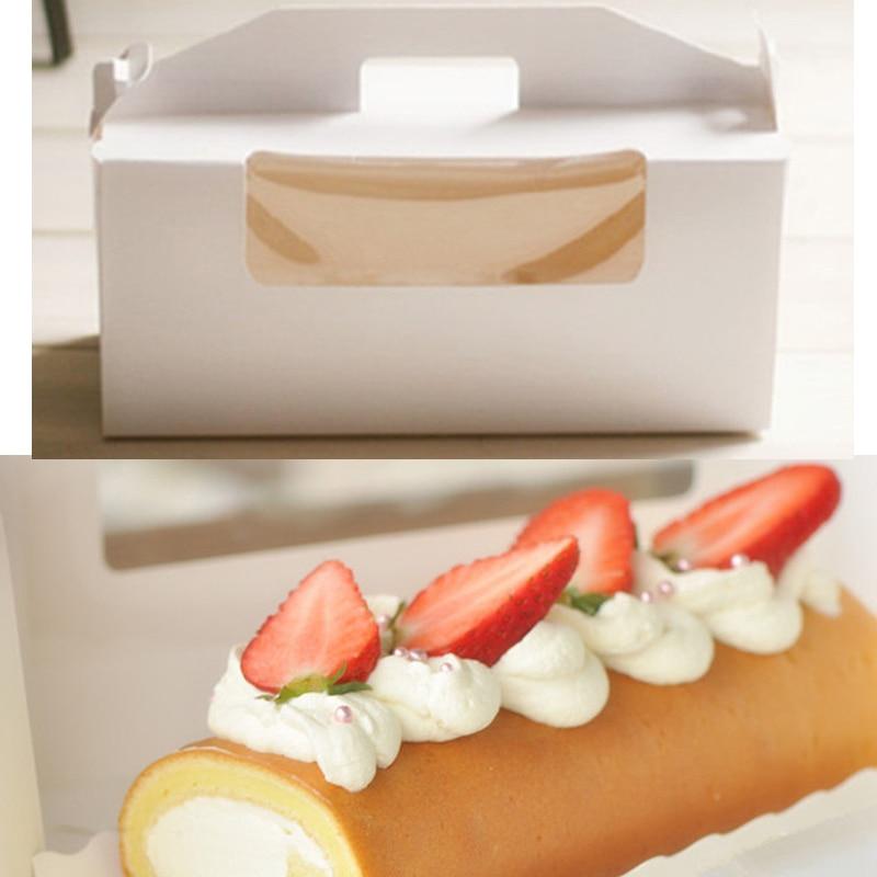 24 9 10 cm 10 Pcs Longa Caixa do Alimento Com Alça Caixa de Embalagem  Macaron Bolinho Bolo Do Queque de Papel caixas Caixas De Armazenamento 7b9beb6b445f8