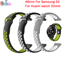 watchband  For Huami Amazfit Bip Youth 20mm strap Replacement sport Silicone watch band wristband For Samsung S2 46mm smart band 20mm nylon sport strap watchband for huami amazfit bip youth smart watch replacement comfortable wristband watch band strap