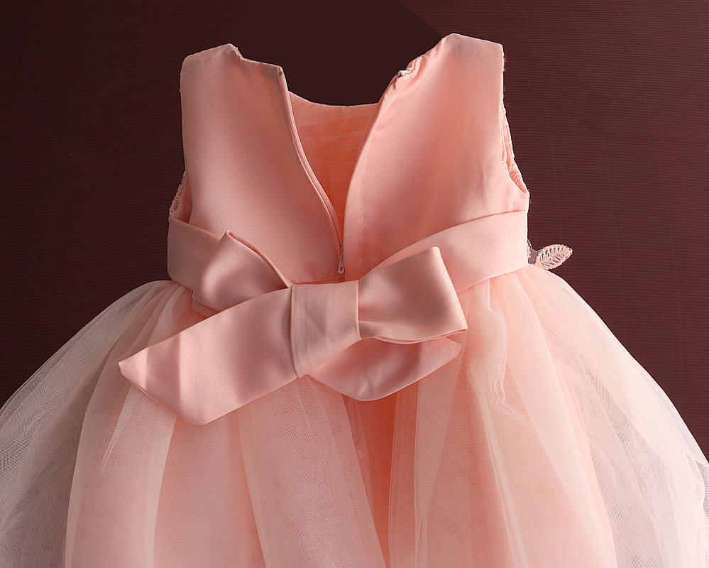 Baby Girl Dresses Embroidery Flower Girls Dress Ball Gown Newborn 1 year Birthday Dress Kids Clothes vestidos infantis