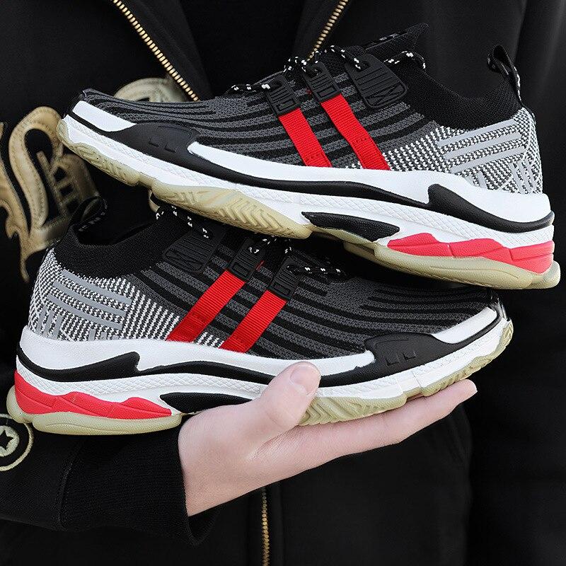 Sapatos 2019 Maré colorido Lazer multi Homens vermelho Preto Primavera Nova Dos qwOOxZgF