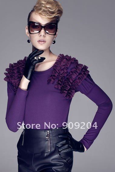 Freeshipping +wholeseller price Brand  Victoria Queen Style Lotus Knit T-shirt( 072011302)