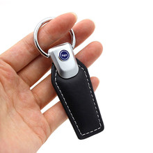 Automobile For Nissan Ford Bmw for Benz Logo Metal KeyChain Badge Key Ring Emblem Key Holder Chain(China)