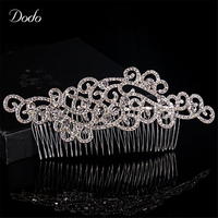 New Hair Crab Handmade Hot Design Austrian Crystal Wave Shape Concise And Clear For Women Prom