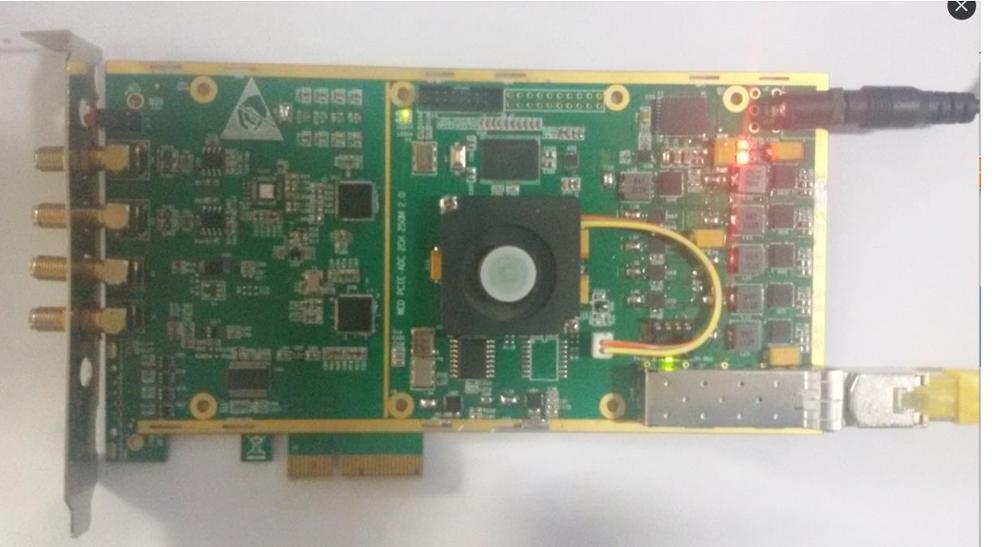 PCIe 2 channel 14 bit data acquisition card high speed acquisition card 100M/200M/250M
