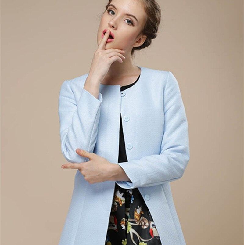 Nouvelle Automne Chaude Mode Printemps Tranchée Femmes Femelle Cardigan 2018 Pour Coupe Sky vent Populaire Vente Manteau Wc048 Blue SMVzUqpG