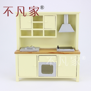 Fine Dollhouse 1/12 Scale Miniature furniture beautiful Kitchen cabinet cooking bench 1 12 scale fine dollhouse miniature furniture white cabinet