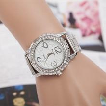 Luxury Brand Gold Watches Women Quartz Dress Watches Fashion Ladies Stainless Steel Rhinestone Crystal Analog Wristwatches AC026