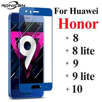 Перейти на Алиэкспресс и купить Защитное стекло Honor, высокопрочное, полностью закрывает экран, подходит для Huawei Honor 9 Lite, 8 Lite, Honor 9, 8, 10