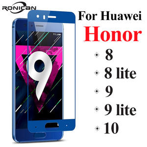 cover honor 9 lite protective glass honor 9 8 10 on for huawei 8 lite 9 lite screen