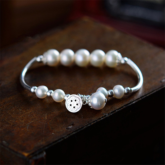 freshwater pearl bracelets&bangles women charms pearl fashion jewelry elegant female bracelet party wedding clothing accessories