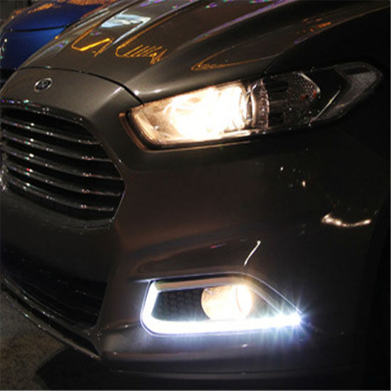 LED Daytime Running Lights DRL LED Fog Lamp With Turn Signal Function For Ford Fusion MONDEO 2013 2014 2015 2016 eonstime 2pcs 12v car drl led daytime running light fog lights for ford mondeo fusion 2013 2014 2015 2016 car styling