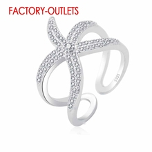 925 Sterling Silver Ring Fashion Jewelry Animal Design Cubic Zirconia Pave Setting Women Girls Party Engagement Wholesale цена 2017