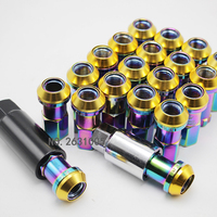 Caster nut M12x1.5 high quality iron racing composite R40 wheel nut with anti theft nut