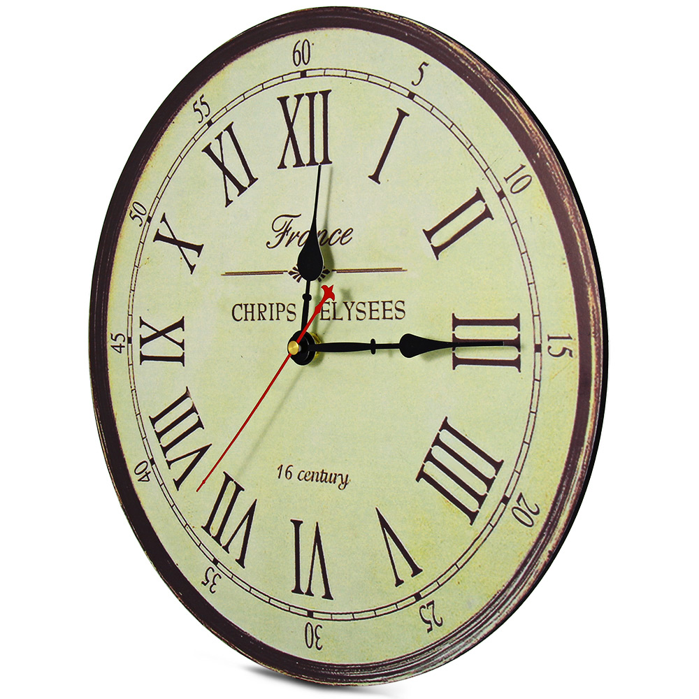 Aliexpresscom Buy Retro Silent Antique Wooden Round Analog