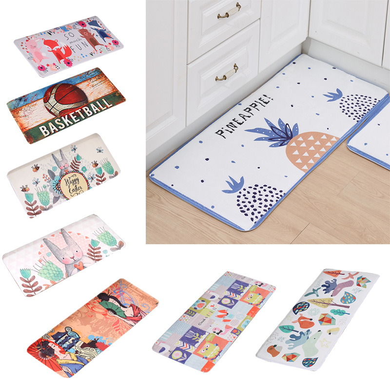 YIGENG Cartoon Flannel Carpet for Kitchen Parlor Machine washable Anti slip Rug for Printing Patterns Doormat YR2 in Mat from Home Garden