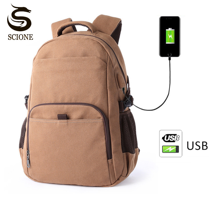 Stylish Waterproof 14 Inch Laptop Bag Man Boys USB Charge Backpack Travel Backpack women School Bags Mochila Masculina