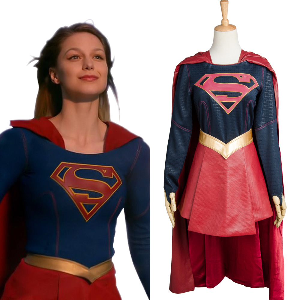 Supergirl Cosplay Costume Superhero Women Full Set Girls Halloween DC Comic Cosplay Set Cosplay Easy