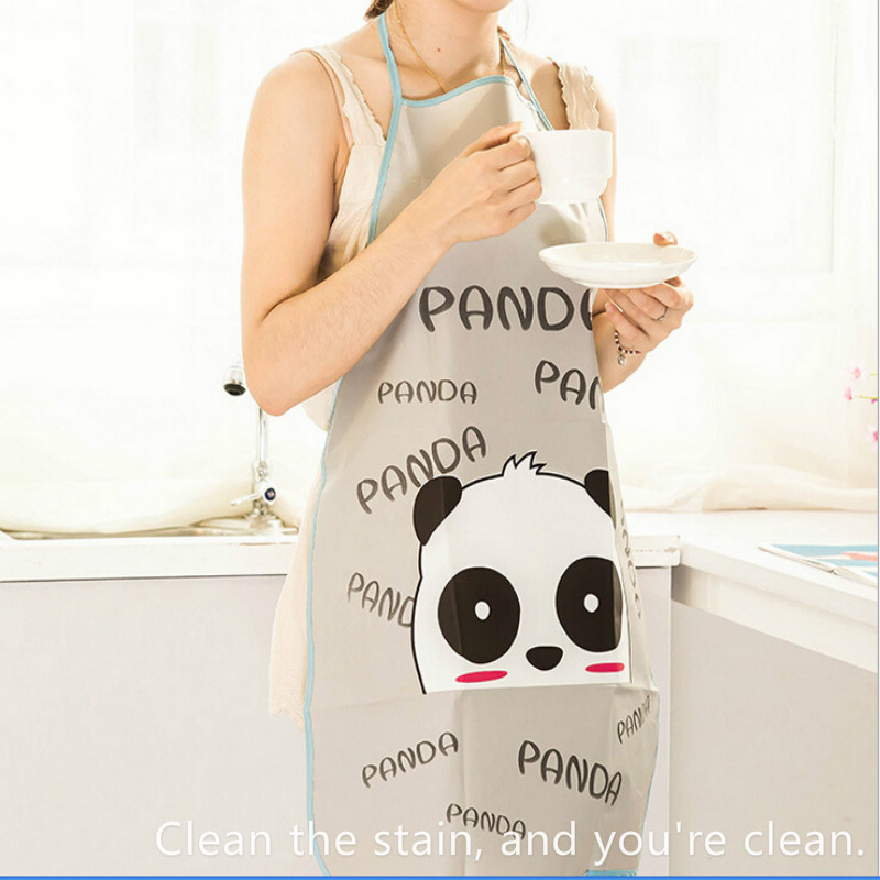 !Women Cute Cartoon Waterproof Apron Anti-oil Bust Sleeveless Apron Kitchen Household Cleaning Tools & Accessories