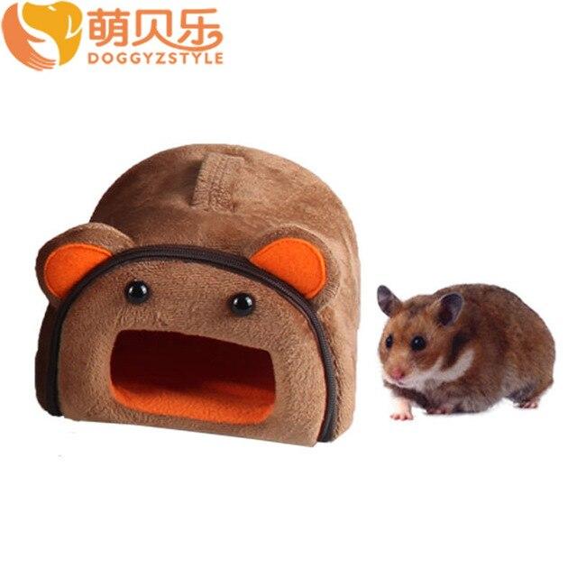 Cute Cartoon Pet Sleeping Bag Bed House Hamster Warm Soft Kennel Small